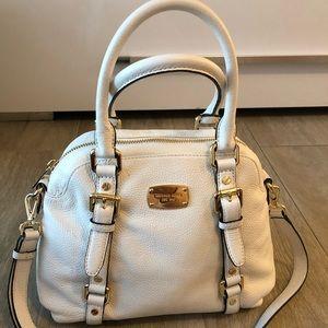 Michael Kors white/gold small satchel